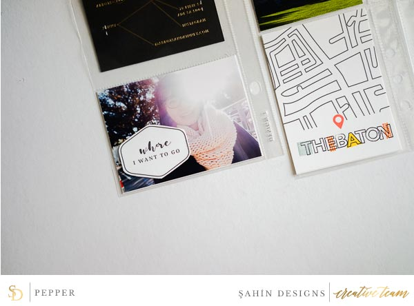 Hybrid pocket scrapbook layout using Jaunt collection by Sahin Designs. Click thru to see more inspirations. Pin & save for later!