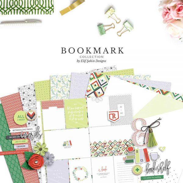 Bookmark Digital Scrapbook Collection Bundle   Sahin Designs