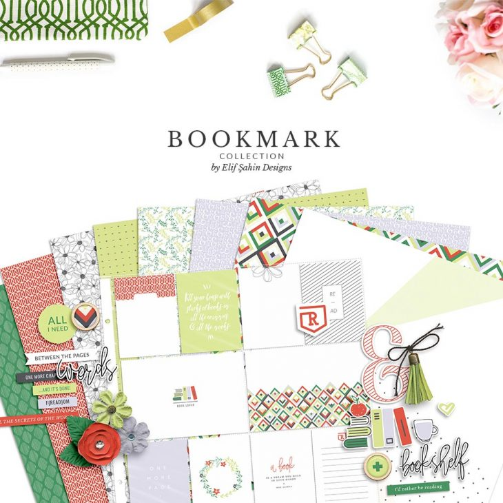 Bookmark Digital Scrapbook Collection Bundle | Sahin Designs