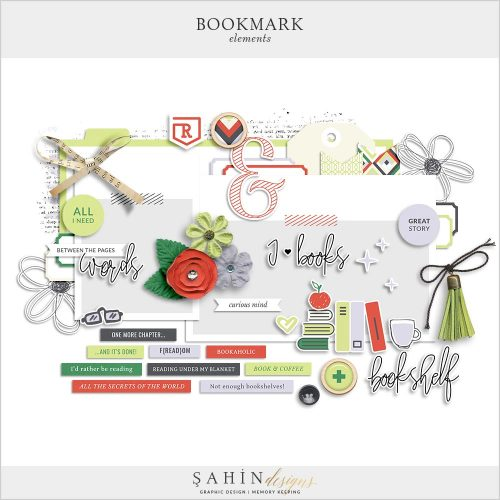 Bookmark Digital Scrapbook Elements Pack | Sahin Designs