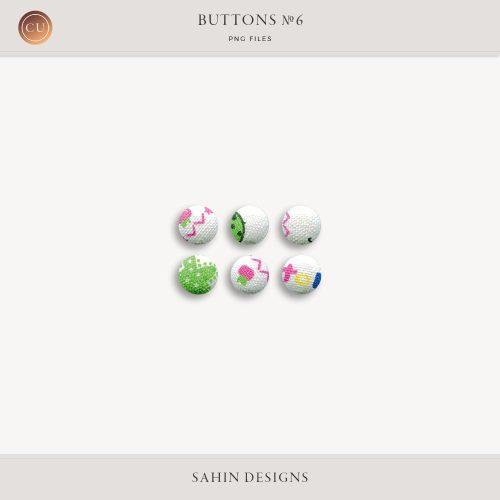 Extracted Fabric Buttons | CU Digital Scrapbook | Sahin Designs