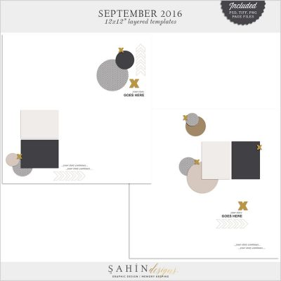Digital Scrapbook Layered Layout Template/Sketch   Sahin Designs