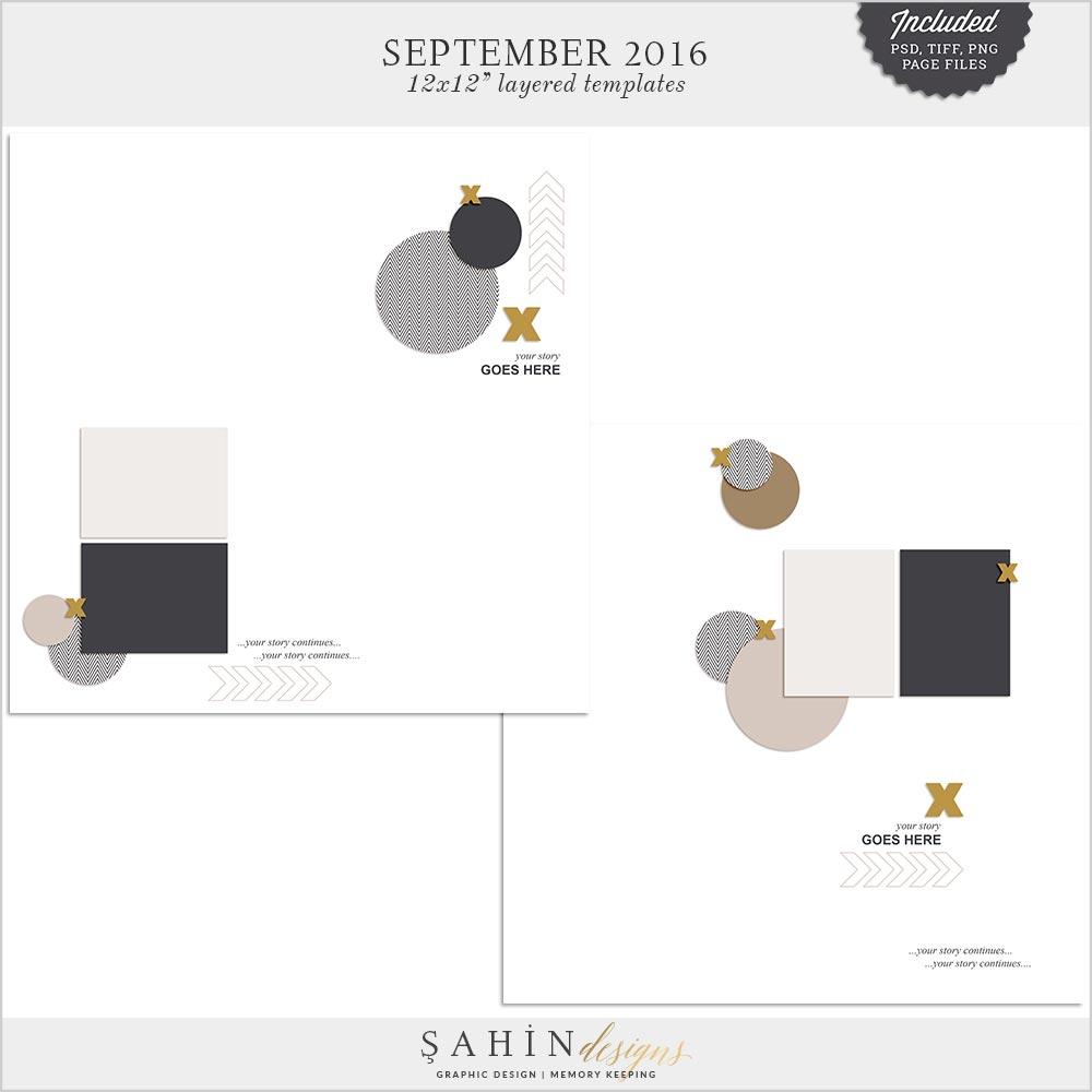 Digital Scrapbook Layered Layout Template/Sketch | Sahin Designs