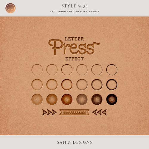 Letterpress Photoshop Layer Style | Sahin Designs