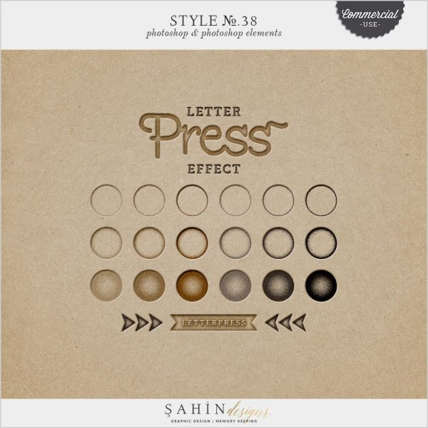 Letterpress Photoshop Layer Style | Sahin Designs