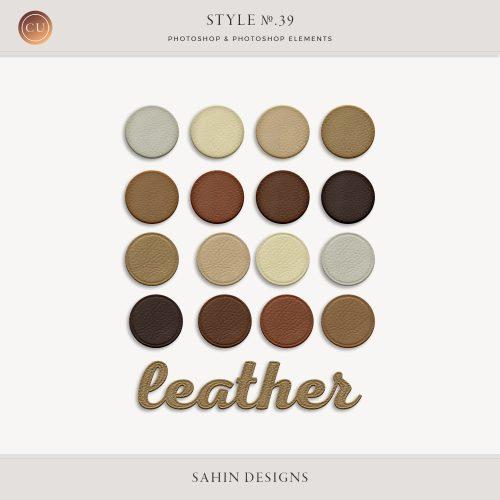 Leather Photoshop Layer Style | Sahin Designs