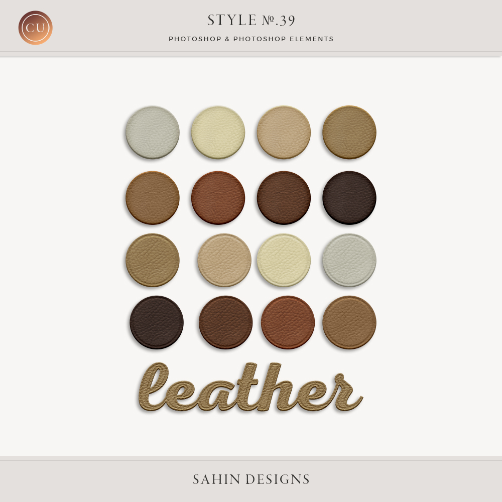 Leather Photoshop Layer Style | Sahin Designs
