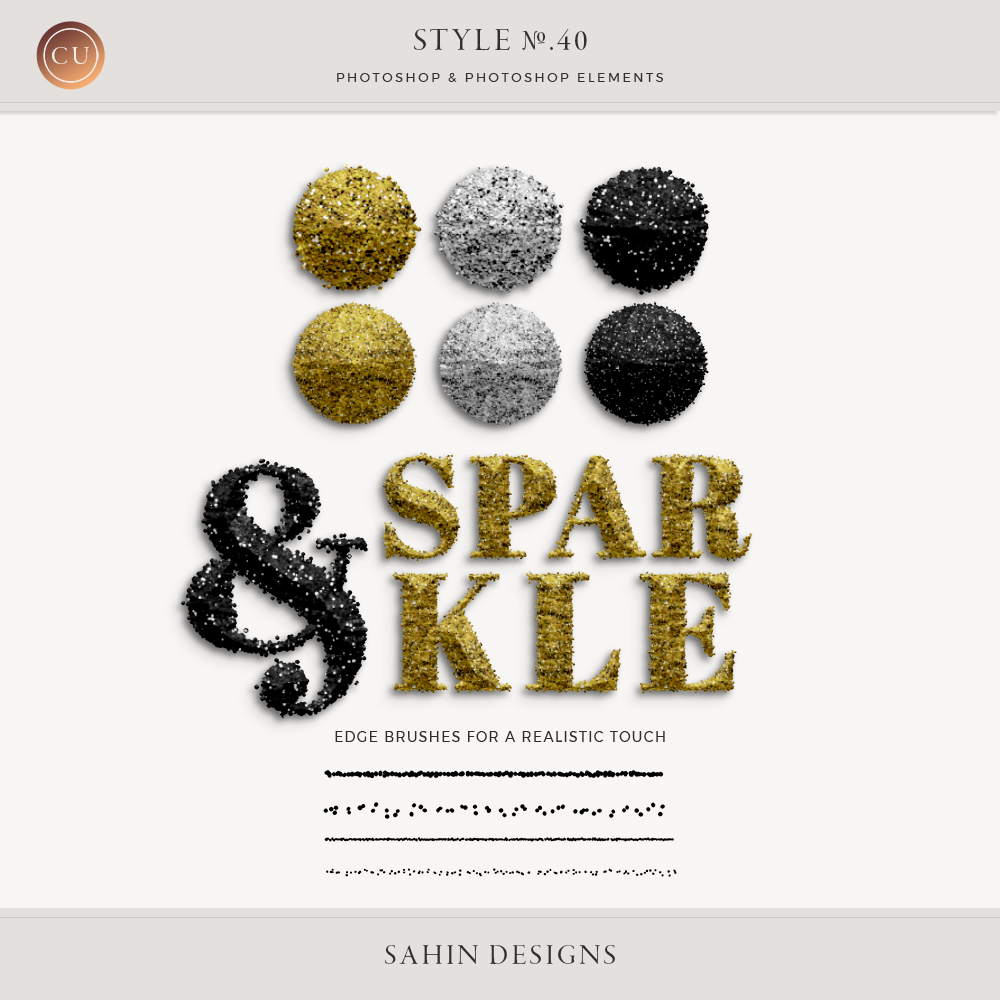 Sparkle Photoshop Layer Styles | CU Digital Scapbook | Sahin Designs