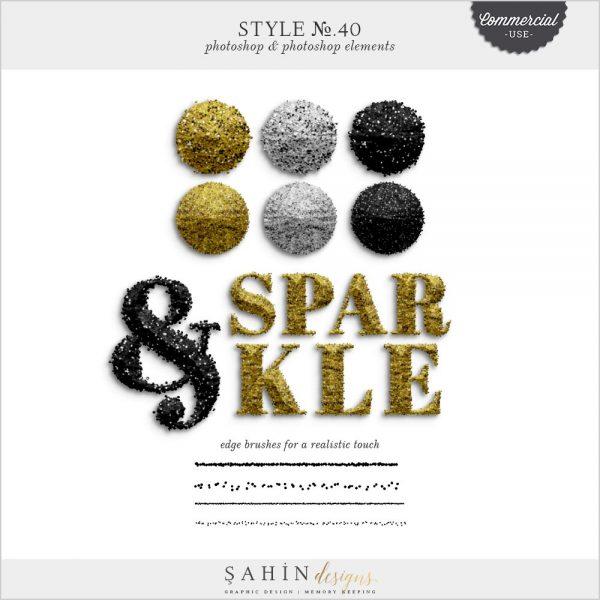 Sparkle Photoshop Layer Styles   CU Digital Scapbook   Sahin Designs