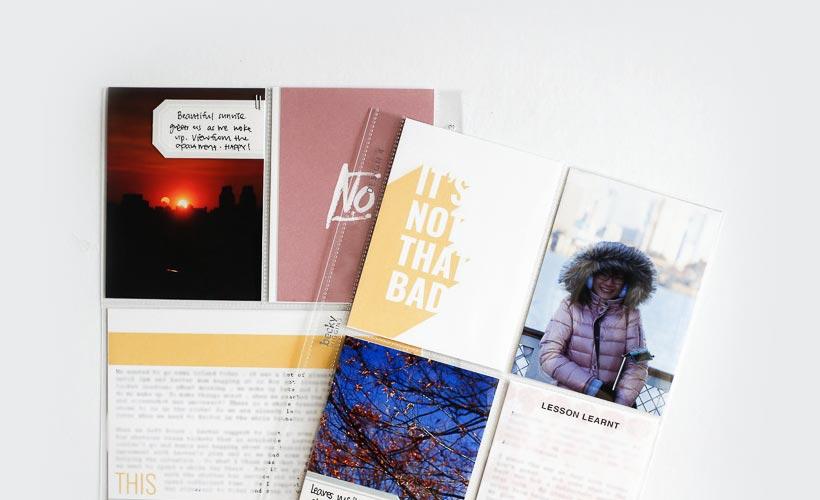 Scrapbook On The Go   Journaling   Sahin Designs