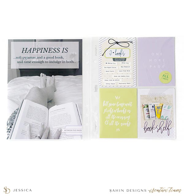 Scrapbook Layout Inspiration | Pocket Scrapbook | Sahin Designs | Bookmark Collection