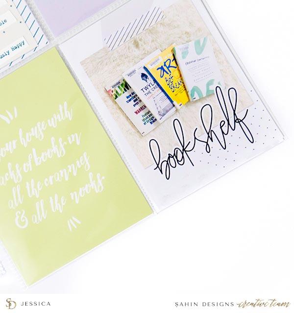 Scrapbook Layout Inspiration | Pocket Scrapbook | Sahin Designs | Bookmark Collection