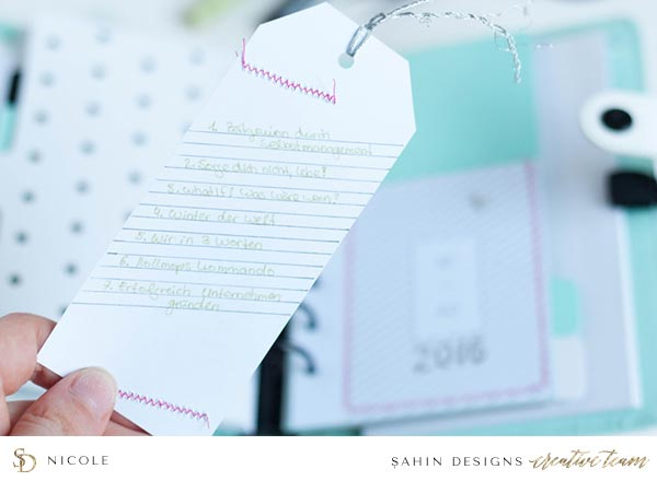 Scrapbook Layout Inspiration | Hybrid Scrapbook | Sahin Designs | Bookmark Collection
