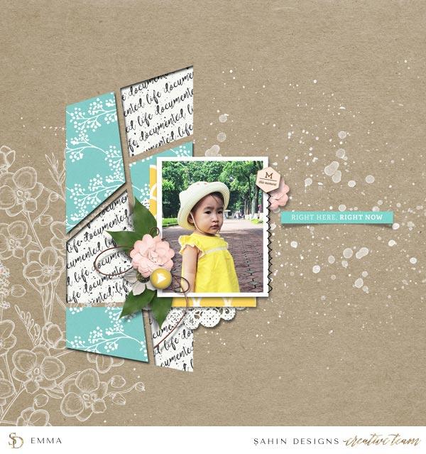 Digital Scrapbook Layout Inspiration | September 2016 Creative Gallery | Sahin Designs