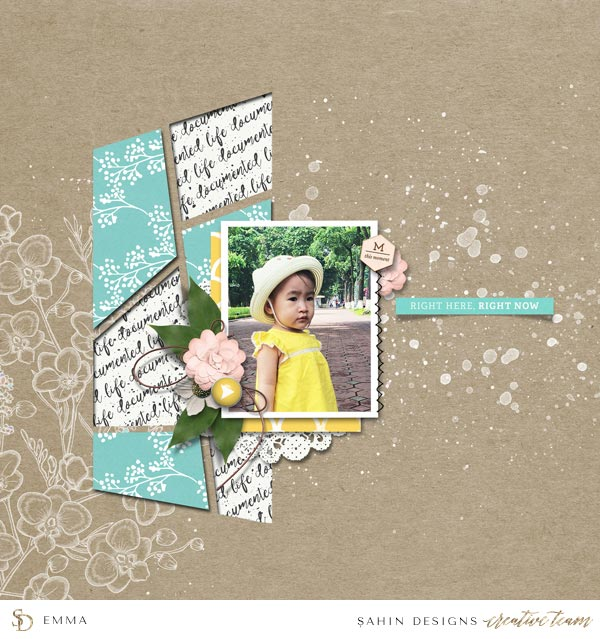 Digital Scrapbook Layout Inspiration | September 2016 Creative Gallery | Sahin Designs
