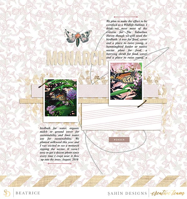 Digital scrapbook layout using Woodnote collection by Sahin Designs. Click thru to see more inspirations. Pin & save for later!