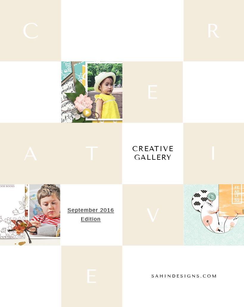 Digital Scrapbook Layout Inspiration   September 2016 Creative Gallery   Sahin Designs
