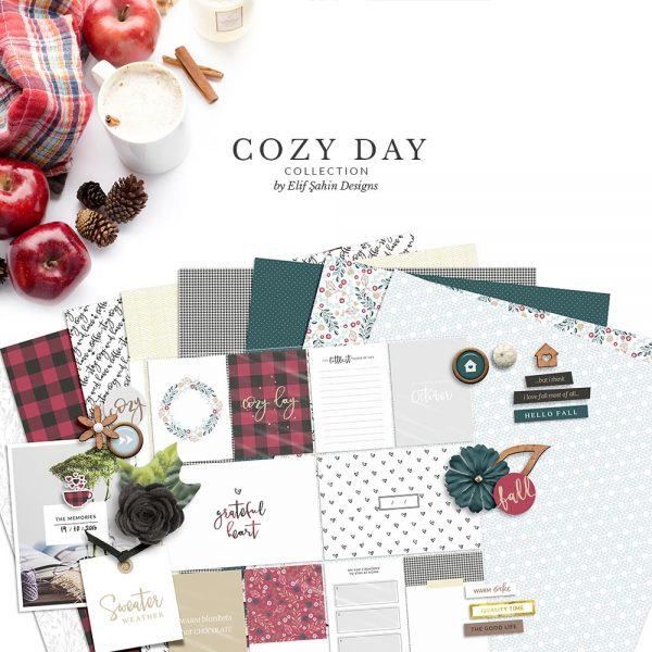 Cozy Day Digital Scrapbook Collection | Sahin Designs
