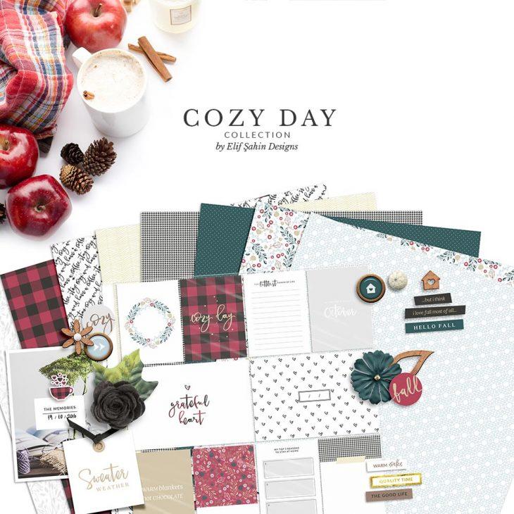 Cozy Day Digital Scrapbook Collection   Sahin Designs