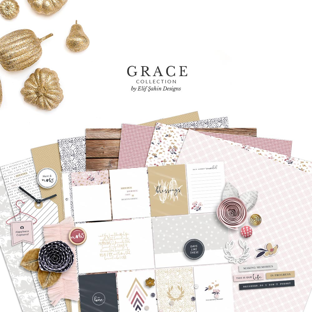 Grace Digital Scrapbook Collection | Sahin Designs