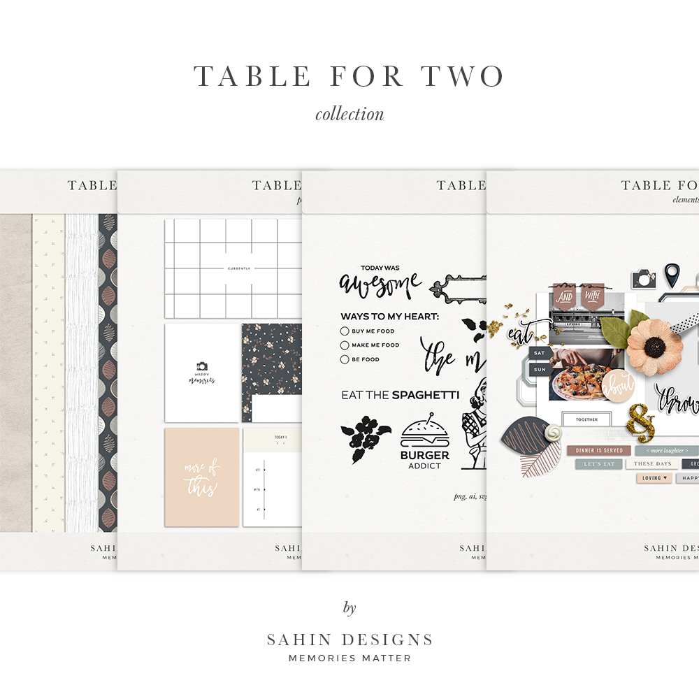 Table for Two Digital Scrapbook Collection   Sahin Designs