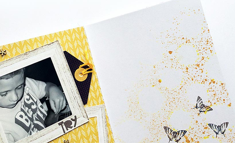 A Traveler's Notebook Spread   Incorporate digital scrapbook designs into your notebook   Sahin Designs