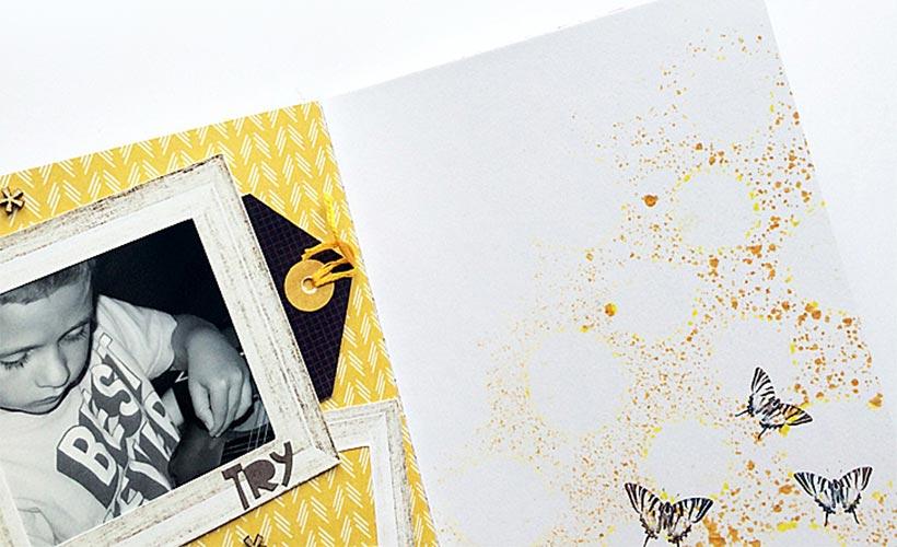 A Traveler's Notebook Spread | Incorporate digital scrapbook designs into your notebook | Sahin Designs