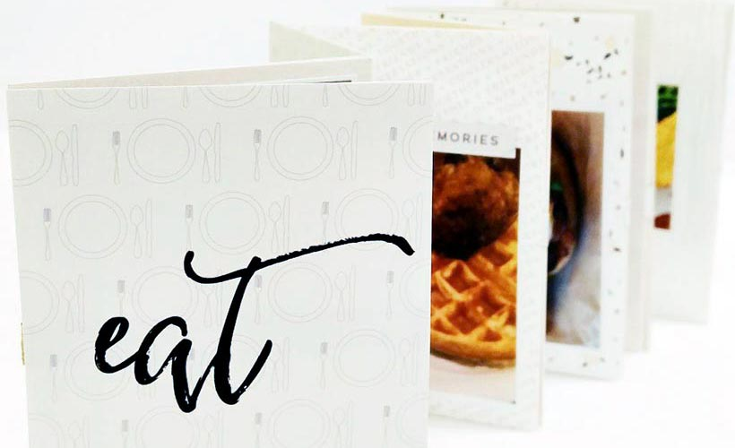 Create a food mini book | Scrapbooking | Sahin Designs