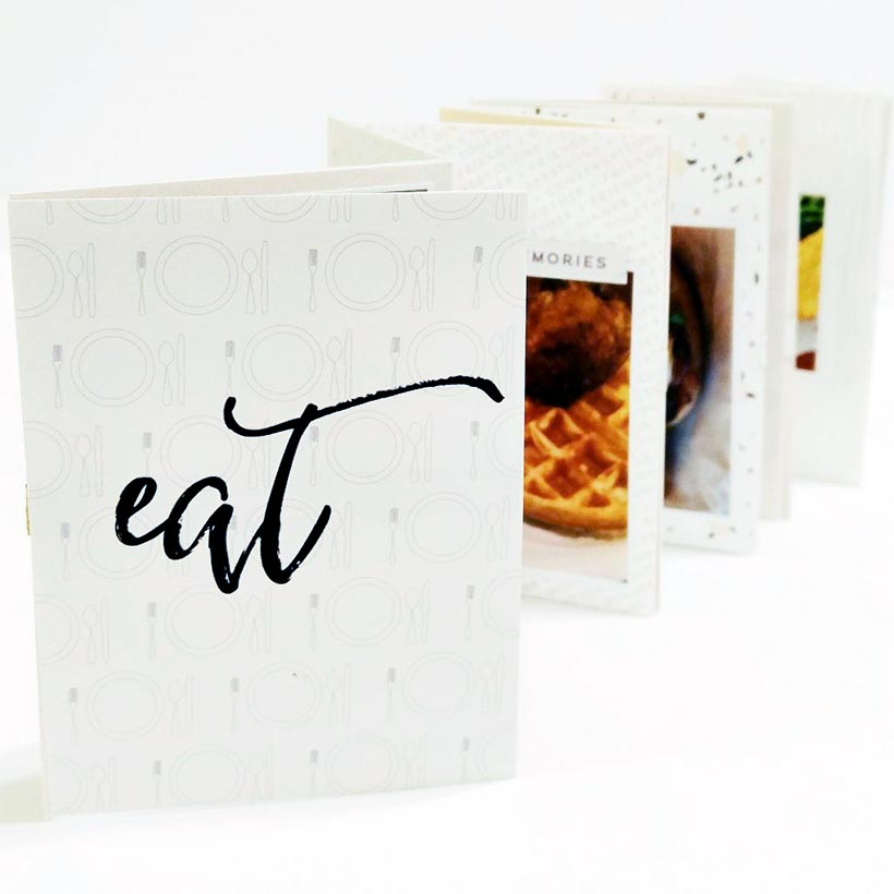 Create a food mini book   Scrapbooking   Sahin Designs