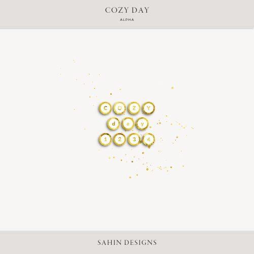 Cozy Day Digital Scrapbook Alpha   Sahin Designs