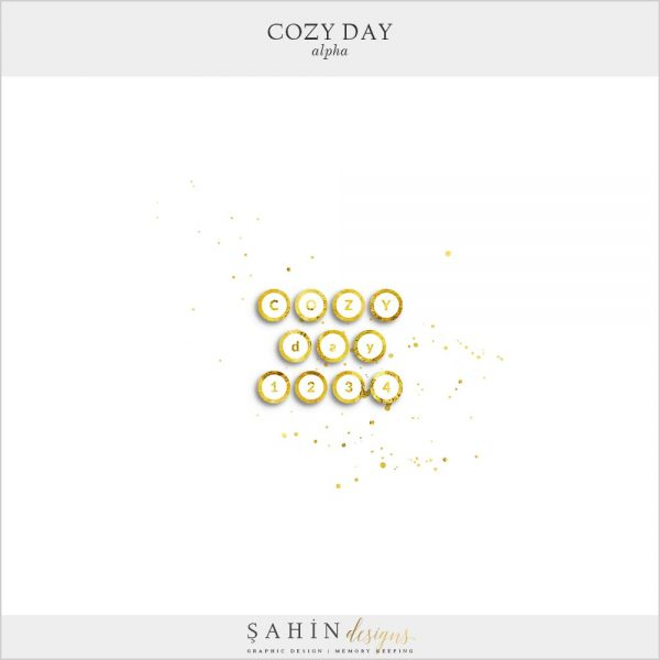 Cozy Day Digital Scrapbook Alpha | Sahin Designs