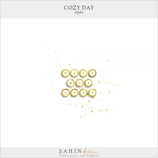 Cozy Day Digital Scrapbook Alpha | Sahin Designs