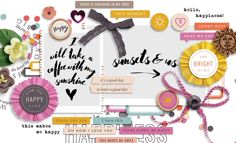 Luminary Digital Scrapbook Collection | Sahin Designs