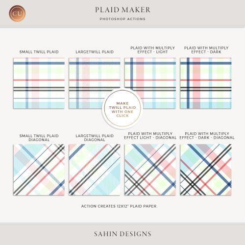 Photoshop Plaid Maker Action   Twill Plaid   CU Scrapbook   Sahin Designs