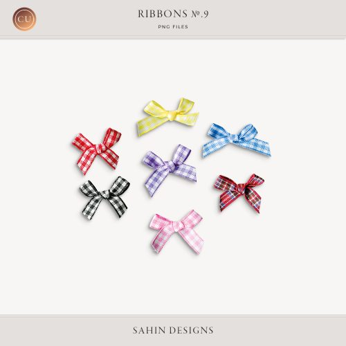 Extracted digital ribbons | Commercial use digital scrapbook | Sahin Designs