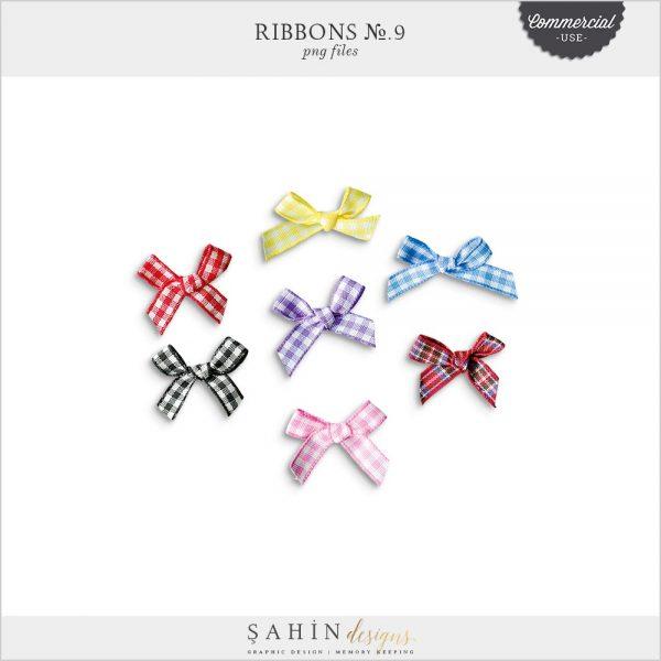 Extracted digital ribbons | Commercial use digital scrapbook | Sahin Designs