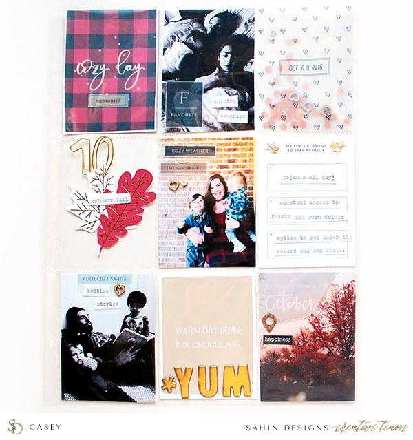 Pocket Scrapbook Layout Inspiration   Sahin Designs   Project Life