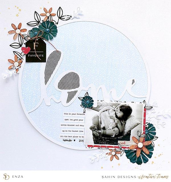 Digital Scrapbook Layout Inspiration   Sahin Designs