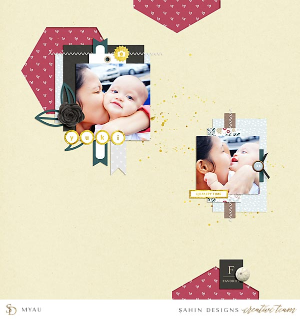Digital Scrapbook Layout Inspiration | Sahin Designs