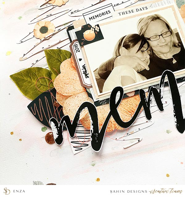 Scrapbook Layout Inspiration   Hybrid Scrapbook   Sahin Designs   Table for Two Collection