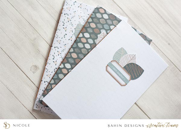 Scrapbook Layout Inspiration | Hybrid Scrapbook | Sahin Designs | Table for Two Collection