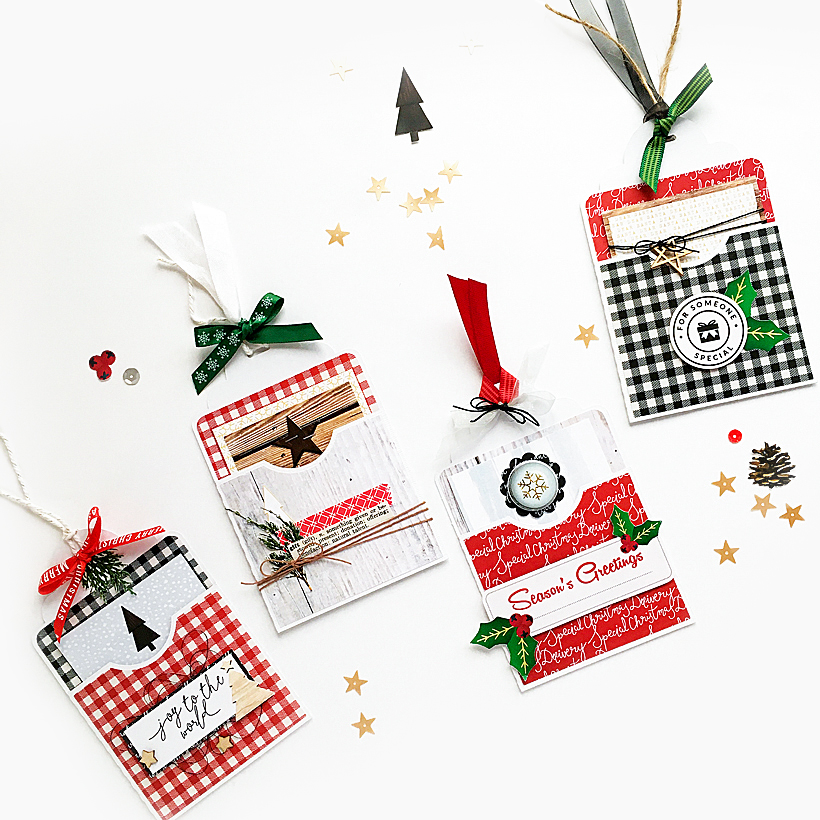 Christmas Gift Tags Diy.4 Diy Christmas Gift Tags Made From Scrapbook Supplies Sahin