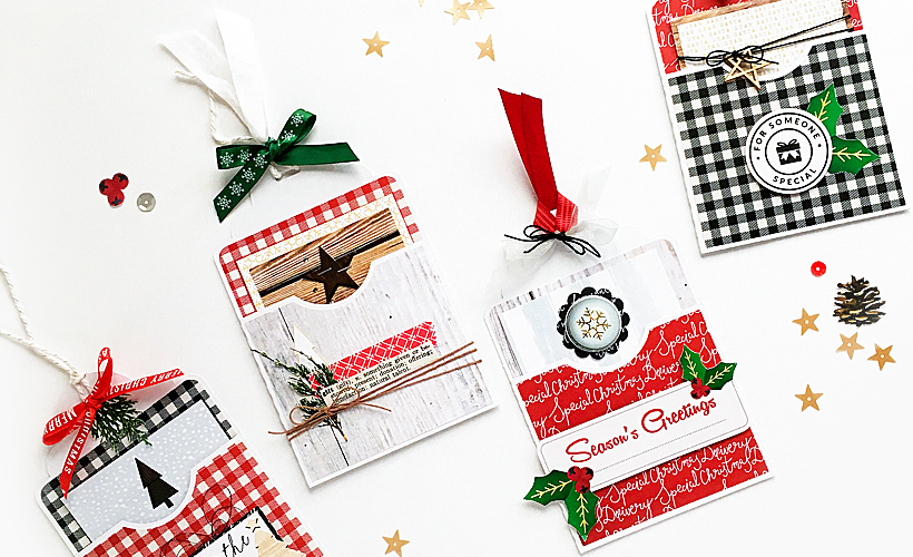 4 DIY Christmas Gift Tags Made From Scrapbook Supplies