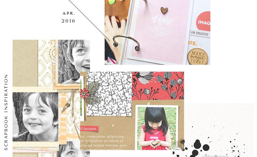 Digital Scrapbook Layout Ideas - April Creative Gallery - Sahin Designs