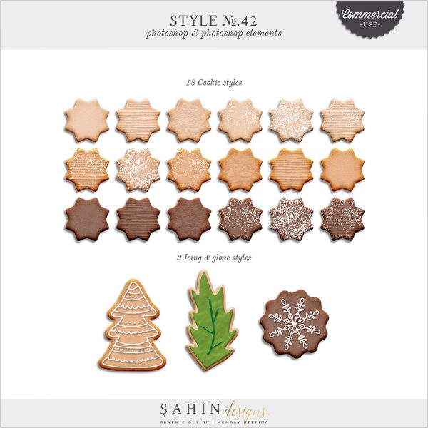 Cookie & Icing Photoshop Layer Styles - CU Digital Scrapbooking - Sahin Designs