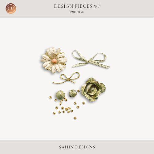 Design Pieces No.7 - Extracted Realistic Digital Objects - CU Digital Scrapbook - Sahin Designs