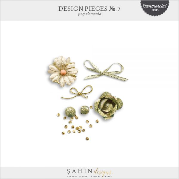 Design Pieces No.7 - Extracted Realistic Digital Objects - CU Digital Scrapbook - Sahin Designs