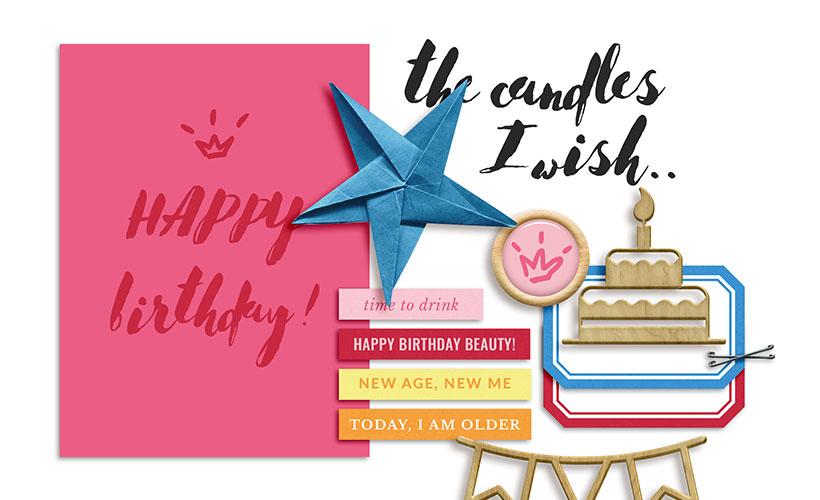 Happy Birthday Free Mini Scrapbook Kit - Sahin Designs