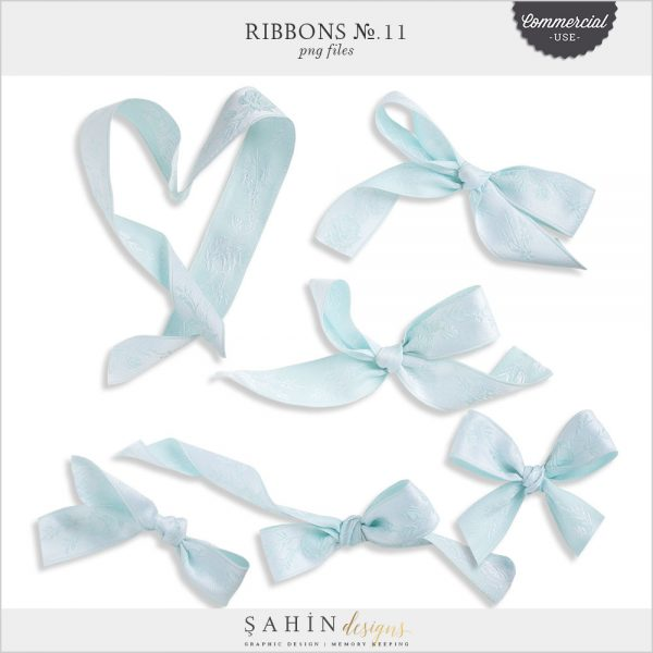 Extracted Digital Blue Ribbons - CU Digital Scrapbook - Sahin Designs
