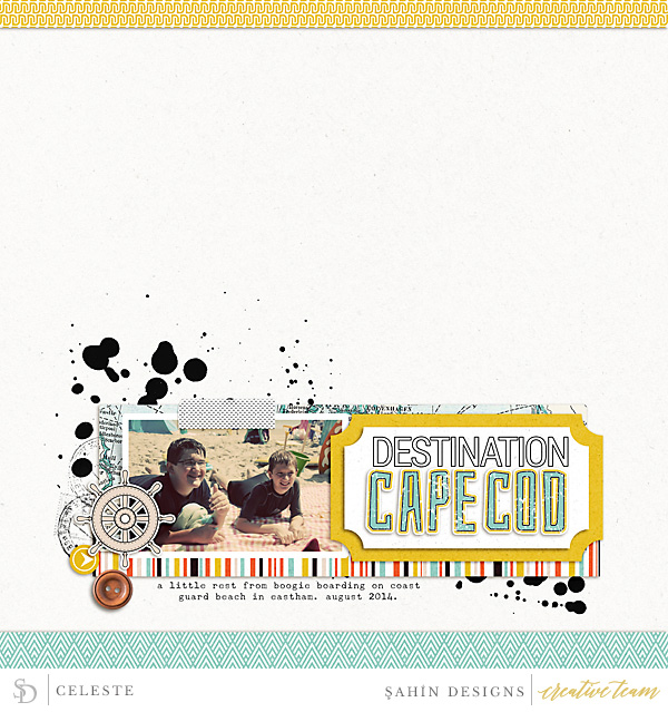 Digital Scrapbook Layout - Sahin Designs
